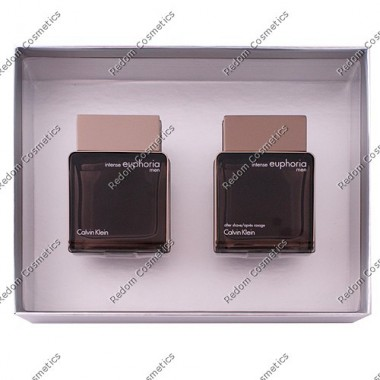 Calvin klein euphoria men intense woda toaletowa 100 ml spray + woda po goleniu 100 ml