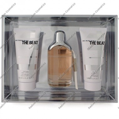Burberry the beat woda perfumowana 75 ml spray + balsam  100 ml +Żel pod prysznic 100 ml