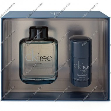 Calvin klein free woda toaletowa 100 ml spray + dezodorant sztyft 75 ml