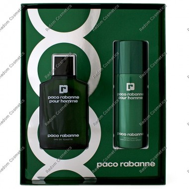 Paco rabanne pour homme woda toaletowa 100 ml spray + dezodorant 150 ml spray