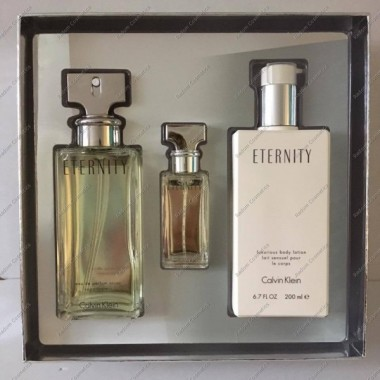Calvin klein eternity woda perfumowana 100 ml spray + woda perfumowana 15 ml + balsam do ciaŁa 200 ml