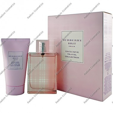 Burberry brit sheer women woda toaletowa 50 ml spray + balsam do ciaÂŁa 50 ml