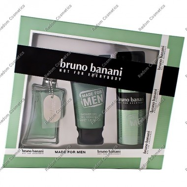 Bruno banani made for men woda toaletowa 30 ml spray + Żel pod prysznic 50 ml + dezodorant 50 ml spray