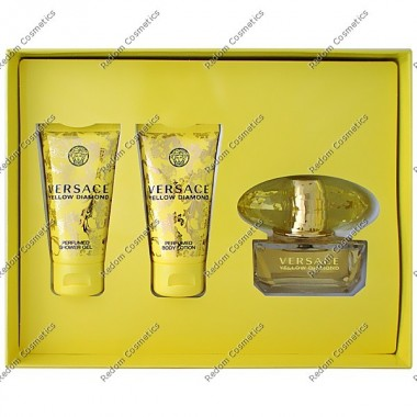 Versace yellow diamond woda toaletowa 30 ml + balsam do ciaŁa 50 ml + Żel pod prysznic 50 ml