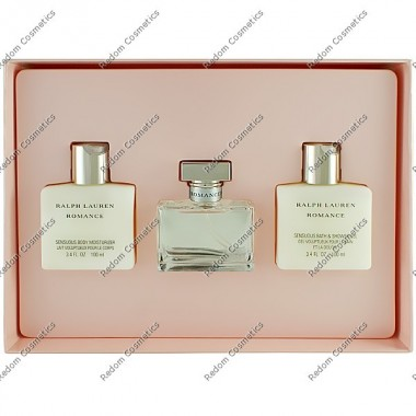 Ralph lauren romance women woda perfumowana 50 ml spray + balsam do ciaŁa 100 ml + Żel pod prysznic 100 ml
