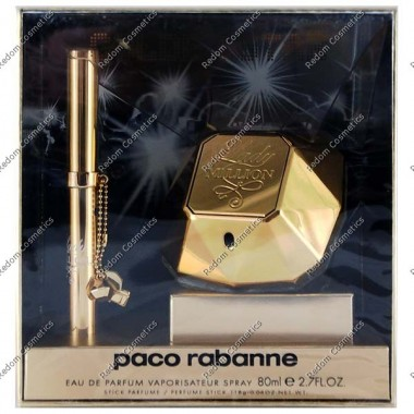 Paco rabanne lady million woda perfumowana 80 ml spray + perfumetka 1.18g