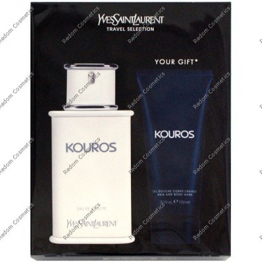 Yves saint laurent kouros woda toaletowa 100 ml spray + Żel pod prysznic 75 ml
