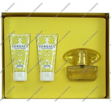 Versace yellow diamond woda toaletowa 50 ml + balsam do ciaŁa 50 ml + Żel pod prysznic 50 ml