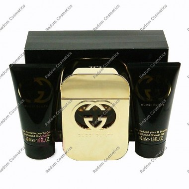 Gucci guilty women woda toaletowa 75 ml spray + balsam do ciaŁa 50 ml + Żel pod prysznic 50 ml