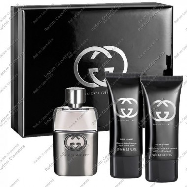 Gucci guilty pour homme woda toaletowa 90 ml spray + balsam po goleniu 50 ml + Żel pod prysznic 50 ml