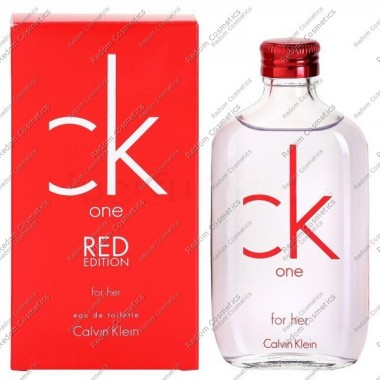 Calvin klein ck one red edition for her woda toaletowa 100ml spray