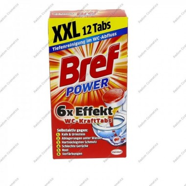 Bref power tabletki do wc 12szt 300g