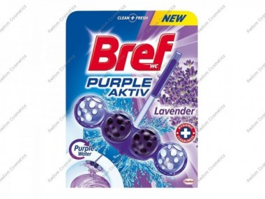 Bref purple activ zawieszka do wc 50g lavender