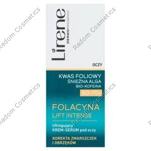 Lirene folacyna lift intense 60-70+ liftingujĄcy krem-serum pod oczy 15ml