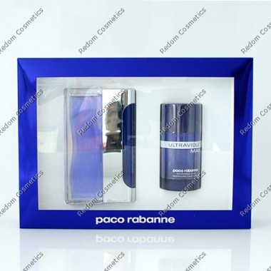 Paco rabanne ultraviolet men woda toaletowa 100 ml spray + dezodorant sztyft 75 g