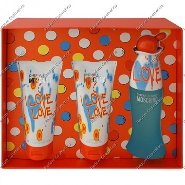 Moschino i love love woda toaletowa 100 ml spray + balsam do ciaŁa 100 ml + Żel pod prysznic 100 ml