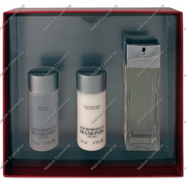 Giorgio armani emporio diamonds pour homme woda toaletowa 75 ml spray + Żel pod prysznic 50 ml + balsam po goleniu 50 ml