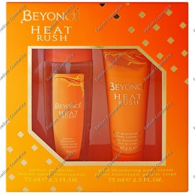 Beyonce heat rush dezodorant 75 ml atomizer + balsam do ciaŁa 75 ml