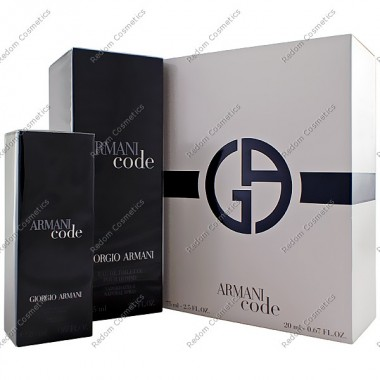 Giorgio armani code pour homme woda toaletowa 75 ml spray + woda toaletowa 20 ml