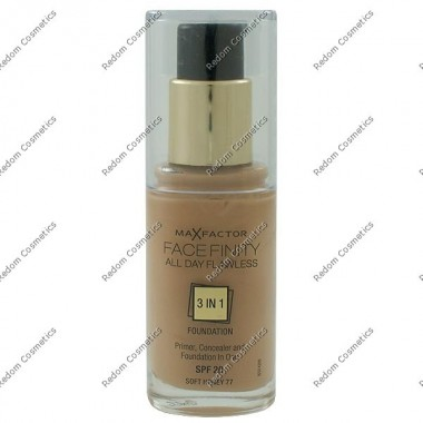 MAX FACTOR FACEFINITY ALL DAY FLAWLESS 3 W 1 PODKŁAD NR 77 SOFT HONEY 30 ML