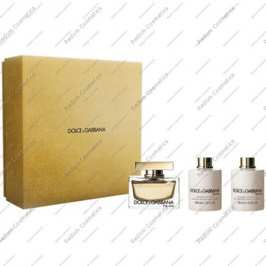 DOLCE & GABBANA THE ONE WODA PERFUMOWANA 75 ML SPRAY + BALSAM DO CIAŁA 100 ML + ŻEL POD PRYSZNIC 100 ML