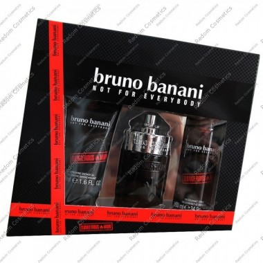 Bruno banani dangerous man woda toaletowa 30 ml spray + dezodorant 50 ml + Żel pod prysznic 50 ml
