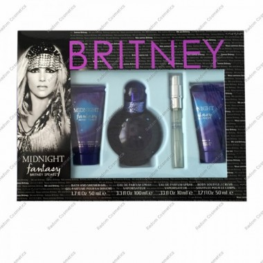 Britney spears midnight fantasy women woda perfumowana 100 ml spray + Żel pod prysznic 50 ml + woda perfumowana 10 ml + balsam do ciaŁa 50 ml