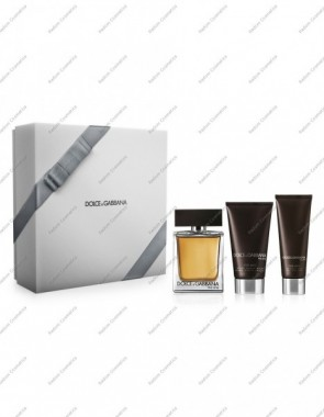 DOLCE & GABBANA THE ONE MEN WODA TOALETOWA 100 ML SPRAY + BALSEM PO GOLENIU 75 ML + ŻEL POD PRYSZNIC 50ML