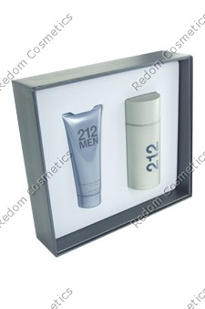 Carolina herrera 212 men woda toaletowa 50 ml spray + Żel po goleniu 75 ml