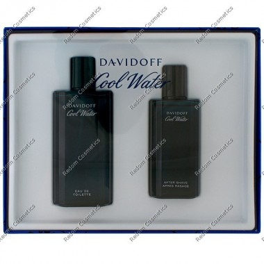DAVIDOFF COOL WATER MEN WODA TOALETOWA 125 ML + WODA PO GOLENIU 75 ML