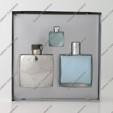 Azzaro chrome woda toaletowa 100 ml spray + balsam po goleniu 100 ml + mini woda 7 ml