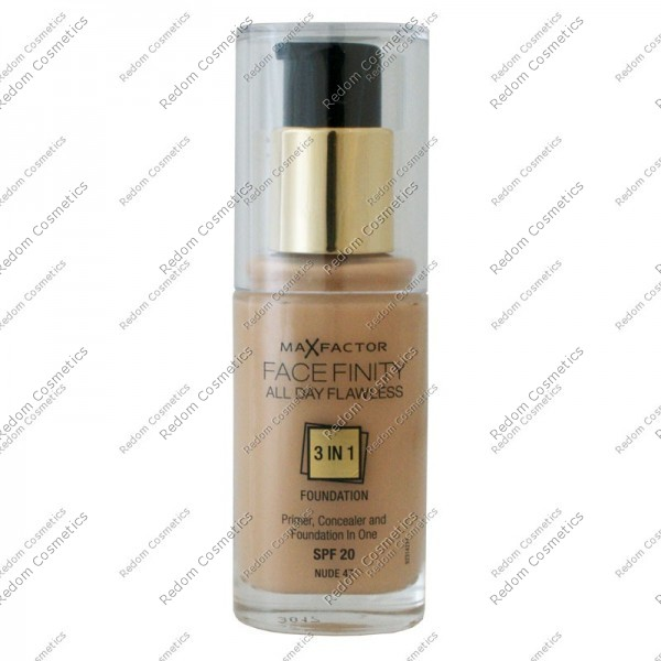 MAX FACTOR FACEFINITY ALL DAY FLAWLESS 3 W 1 PODKŁAD NR 47 NUDE 30 ML